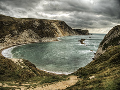 Man O' War Beach, Lulworth (neilalderney123) Tags: 2016neilhoward beach rain weathere landscape dorset england lulworth bay water