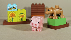 Minecraft and Lego duplo (Busted.Knuckles) Tags: home toys lego duplo wildboar minecraft pig olympusomdm10mkii dxoopticspro11