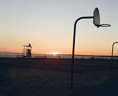 Port Stanley Sunset (KieranCostello) Tags: pentax6x7 pentax 6x7 6x7film 120mm staybrokeshootfilm kodak portra400 portra film filmisnotdead portstanley downtowncamera kierancostello kieranalog buyfilmnotmegapixels grainisgood landscape sunset