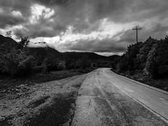 Going There (ozzios) Tags: blackandwhite vikos road nature mountains eyelead greece shachorlavanil color clouds ioannina ipirosditikimakedonia gr