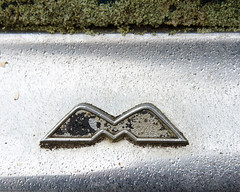 M for Meteor (gbrands - Greg Brandsgard) Tags: lamontcounty ford alberta chrom meteor canada m car lichen bumper