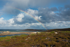 Rainbow (derriesen) Tags: rainbow scilly stmartins uk vacation travel clouds sky ocean atlantic landscape islands nikondf 35mm20d f90 polfilter