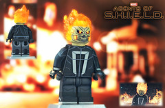 LEGO Marvel : Agents of S.H.I.E.L.D. - Ghost Rider (MGF Customs/Reviews) Tags: lego marvel agents shield ghost rider robbie reyes johnny blaze custom figure minifigure