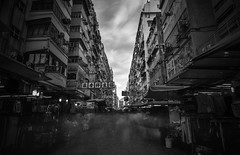 Mongkok ([~Bryan~]) Tags: mongkok localmarket market longexposure monochrome bw blackandwhite ndfilter daytimelongexposure housing building people crowd city urban hongkong bryanleung time