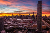 Manhattan from LIC (*ScottyO*) Tags: new york ny nyc manhattan lic longislandcity usa america sunset evening dusk sky clouds blue yellow orange hdr exposureblending buidlings towers traffic city urban skyline cirtyscape