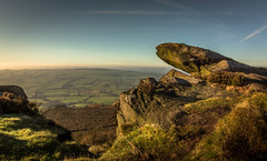 A lovely day at the Roaches. (Ian Emerson) Tags: roaches staffordshire ridge rocks hills outdoor landscape england wideangle 1018mm canon sunny shadows light clouds moss view high peakdistrict sky horizon