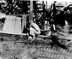 #A Chinese woman weeps in the rubble following a Japanese air raid in Hankou. Hankou was captured by the Japanese invaders in 1938 after the Battle of Wuhan. Hankou, Wuhan, Hubei, Republic of China. September 1938. Image taken by Robert Capa. [1162 x 960] (Histolines) Tags: histolines history timeline retro vinatage a chinese woman weeps rubble following japanese air raid hankou was captured by invaders 1938 after battle wuhan hubei republic china september image taken robert capa 1162 x 960 vintage dh historyporn httpifttt2gzpipx