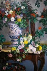 Vase de fleurs sur une console (1867-68), Frdric Bazille - Muse de Grenoble (38) (Yvette Gauthier) Tags: grenoble isre 38 exposition muse frdricbazille musedorsay paris