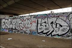 Crept / Fare / Land (Alex Ellison) Tags: crept fare land cbm westlondon urban graffiti graff boobs