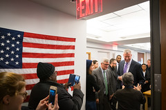 New York City Mayor Bill de Blasio and Senator Hoylman visit the Stein Senior Center at 204 East 23rd street in Manhattan on Monday, November 28th, 2016. Edwin J. Torres/Mayoral Photo Office. (nycmayorsoffice) Tags: senior stein seniorcenter aging senator elderly