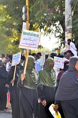 March in Nanded for Muslim Reservations (TwoCircles.net) Tags: niqab hijab