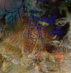 Spirits of Ancient Times - Dark Dreamscape (virtually_supine) Tags: sotnchallenge50darkabstracts animalskulls dreamcatcher birds face dreamscape dark darkness photomanipulation creative digitalartwork digitalmanipulation layers textures collage montage abstractimpressionism