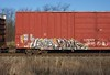 Lewis/Jerms (quiet-silence) Tags: graffiti graff freight fr8 train railroad railcar art lewis jerms a2m 4dc boxcar cibx cibx173808