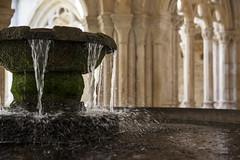 (Satirenoir) Tags: fountain water bokeh pobletmonastery monastery espana spain