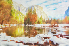 Valley view (jgokoepke) Tags: valleyview yosemitevalley yosemitenationalpark california usa autumncolors winter water reflections elcapitan motionblur hdr mhdr