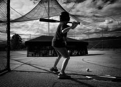 As hard as you can (. Jianwei .) Tags: cloud net vancouver ball kid kevin power baseball swing backview iphone battingcage kemily pittmedow