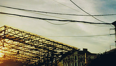 Neg021 (Lydia Brodde) Tags: sunset london camdenmarket wires