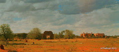 Catholic Church and Hotel (InTheBush*) Tags: sky abandoned church hotel cue scan wa ghosttown disused derelict bigbell