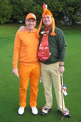 003 - Organiser Neville Wootton with eventual Best Dressed Winner Neil Paull (Neville Wootton Photography) Tags: golf canonixus70 stmelliongolfclub nevillewootton neilpaull redhedzrollupxmastrophy