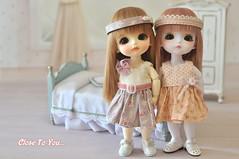 Lati Twins Sophie and Haru (Cilla Mimi Ng) Tags: doll cookie dress handmade sophie lea belle bjd lumi ruki headband haru bayer latidoll lati latiyellow