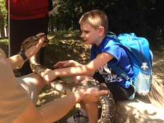 "BELL particiapnt Christopher enjoys touching a Boa Constrictor during our group 'petable' experience. • <a style=""font-size:0.8em;"" href=""http://www.flickr.com/photos/29389111@N07/9544537206/"" target=""_blank"">View on Flickr</a>"