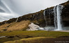 Seljalandsfoss (Jonny Fay) Tags: road winter vacation sky mountain ice water pool field 35mm landscape 1 march waterfall iceland nikon scenery view tripod wideangle ring route icicle vista 16mm f4 gitzo seljalandsfoss route1 d800 1635 ringroad 1635mm 2013 36mp nikond800 36megapixels 36megapixel
