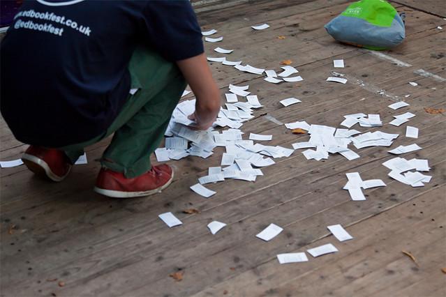 Sorting ticket stubs