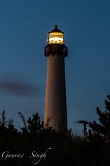 Lighthouse (gauravs82) Tags: light sky lighthouse tower night focus landmark capemay rays beacon rotating navigation beams revolving