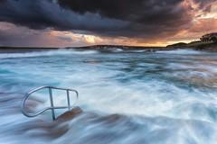 Oak Park, Cronulla (stevoarnold) Tags: ocean park sunset sea seascape water pool clouds oak australia newsouthwales oakpark cronulla