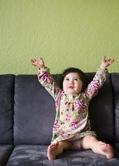 hands up! (pencrush) Tags: opal jiayi 26monthsold