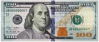 美国新版100美元钞票首次亮相