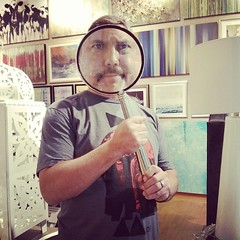 Fun with a giant magnifying glass.