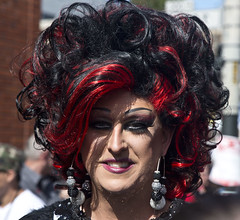 Who does your hair? (deepchi1) Tags: sanfrancisco california gay leather festival bondage piercing transvestites homosexual transexual streetpeople folsomstreet sadism masochism folsomstreetfestival vision:people=099 vision:face=099 vision:portrait=099