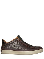 JIMMY CHOO  CROC EMBOSSED LEATHER SNEAKERS (zavertiose) Tags: winter men fall leather shoes jimmy sneakers choo croc embossed 2013 jimmychoocrocembossedleathersneakersfallwinter2013menshoessneakers