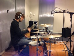 Tom recording drums