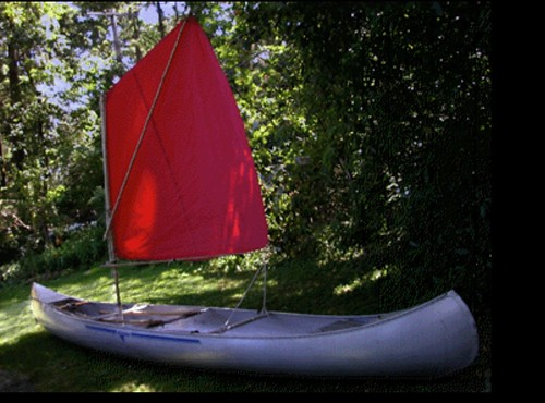 My Canoe With Spritsail