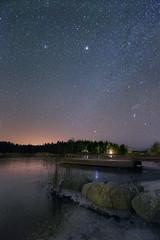 Frozen waters (Pekka Helenius) Tags: beach frozen water waters crackling ice november finland canon 5dmark night sky stars canonef1635mmf28liiusm outdoor