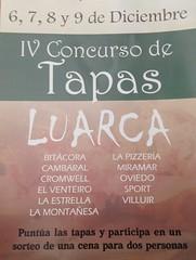 Cartel IV Concurso de tapas Luarca