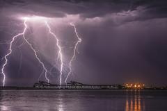 Strike'n Around (Jason Whittle Photography) Tags: sky seascape wharf strike sa lightning southaustralia portlincoln lightningstorm greatphotographers eyrepeninsula shippingwharf flickrestrellas australianstorms vividstriking lightningnightshot