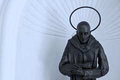 Religious art (L F Ramos-Reyes) Tags: blackandwhite bw art monochrome wall bronze religious spain arch shadows textures mallorca religiousart valldemosa lionfrr mygearandme