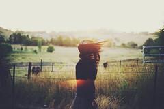 Sunset (Amanda Mabel) Tags: light sunset summer orange sun sunlight selfportrait self golden australia newsouthwales magichour wheatfield orangensw amandamabel