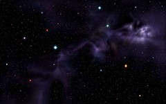 Violet-Black-Galaxy (GurshobitBrar) Tags: blue red galaxy planets newworlds