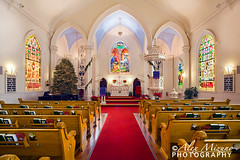 St. Mathews On Christmas Eve (Nualchemist) Tags: sanfrancisco christmas light red white church architecture angel interior christmastree altar christmaseve pews stainedglasses stmathewschurch