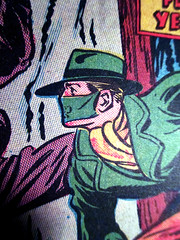 A Green Hornet 1764 (Brechtbug) Tags: new york city nyc portrait hot green film mystery radio vintage movie toy toys book weird newspaper costume uniform gun comic fighter mask action secret bruce battle super daily gas masks crime cover lee weapon disguise hero reid hornet brass britt chucks numb knuckles weapons serial sentinel kato publisher the 2014 vigilante guise