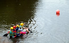 That Sinking Feeling (th1stleandr0se) Tags: race boat canal sink union paddle basin cardboard linlithgow