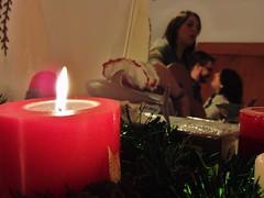 (Joan Pau Inarejos) Tags: luz navidad rojo amor navidades espejo reflejo vela baile nadal intimidad pasin