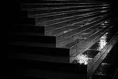 Steps in the Rain (morribrad) Tags: city england urban london wet rain weather night canon dark aperture processed