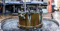 Waterfall [Brenizer Method] (cybertect) Tags: panorama sculpture london fountain waterfall se1 londonse1 anthonydonaldson canonfd85mmf12l sonya7 julyanwickham benziermethod horselydownsquare