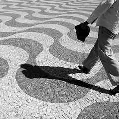 Walking the Waves (@noutyboy (Instagram)) Tags: bw portugal monochrome zwartwit lisboa lisbon archive lissabon nout noutyboy