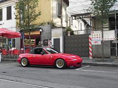 Miata (Ste Bozzy) Tags: italy car japan japanese italia 1st na series mazda gen miata jdm mx5 roadster mazdamiata eunos mazdamx5 mazdaroadster 2013 desio mazdaeunosroadster mazdamx5na mazdamiatana nottedeimotori 19bozzy92